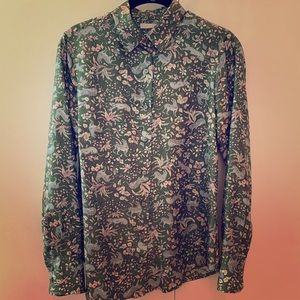 J. Crew Collection Printed Silk Blouse